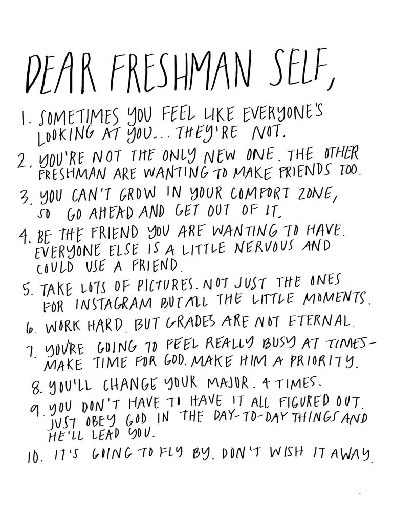 dear freshman self